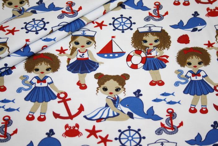 renee-d.de Onlineshop: Stenzo Jersey Stoff Sailor Girl