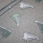 Stenzo Jersey Stoff grau meliert Sneaker Turnschuhe mint