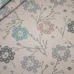 Bio Cotton Sweatshirt Stoff altrosa meliert pastell Blumen