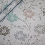 Bio Cotton Sweatshirt Stoff blau meliert pastell Blumen