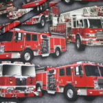 Digitaldruck Jersey Stoff Feuerwehr