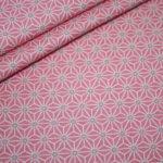 Hilco beschichtete Baumwolle kleine Muster rosa