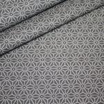 Hilco beschichtete Baumwolle kleine Muster grau