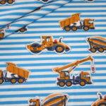 Jersey Stoff Bagger Laster Streifen blau weiß