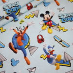 Original Walt Disney Jersey Stoff Mickey Maus Donald Duck