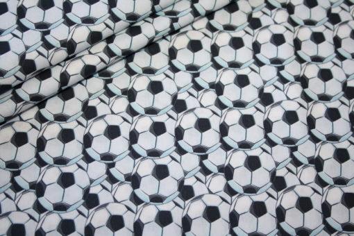 renee-d.de Onlineshop: Baumwollstoff Fußball schwarz weiß