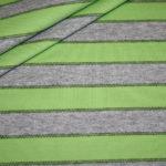 Jersey Stoff Streifen Ringel grau grün