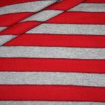Jersey Stoff Streifen Ringel grau rot