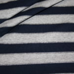 Jersey Stoff Streifen Ringel grau dunkelblau