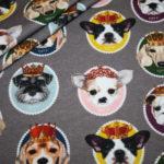 Jersey Stoff King & Queens kleine Hunde