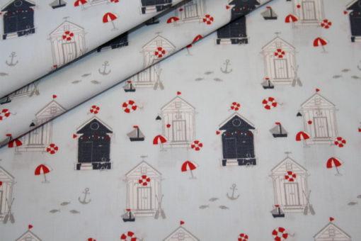Artikel aus dem renee-d.de Onlineshop: Stenzo Baumwollstoff Sailor Strandhaus