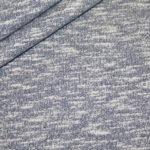 Sweatshirt Stoff jeansblau meliert