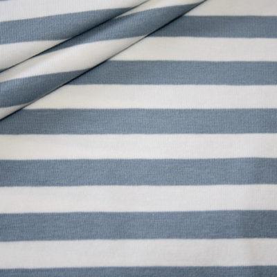 renee-d.de Onlineshop: Breiter Ringel blau Jersey Stoff