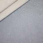 French Terry dünner Sweatshirt Stoff mit glitzer blau