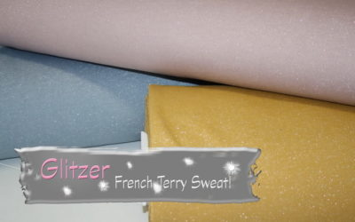 GLITZER French Terry Stoffe!!