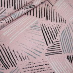 Jersey Stoff Muster rosa grau