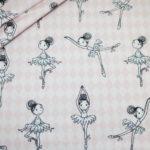Baumwollstoff rosa Ballerina Ballett