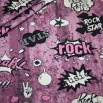 Hilco dünner Sweatshirt Stoff I love Rock`n Roll cool altrosa