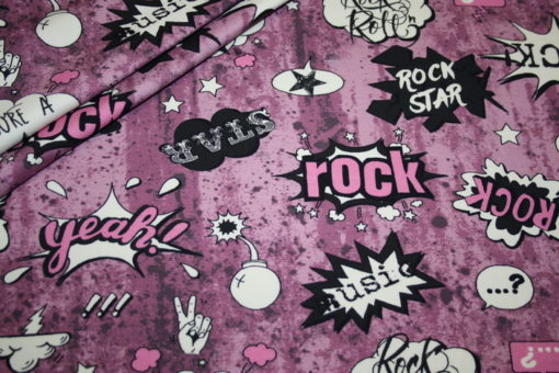 renee-d.de Onlineshop: Hilco Jersey Stoff I love Rock`n Roll