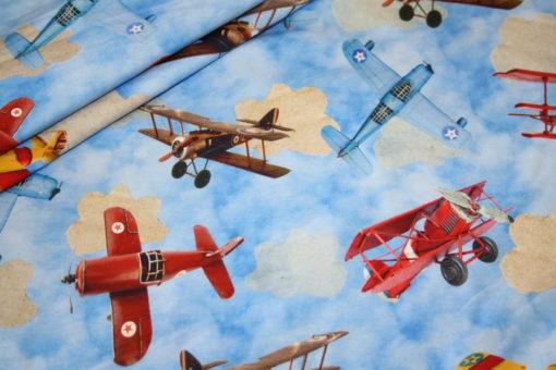 renee-d.de Onlineshop: Digitaldruck Jersey Stoff Flugzeug