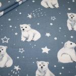 Jersey Stoff Eisbär Eisbären blau