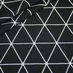 Jersey Stoff Geometrix Muster schwarz weiß