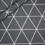 Jersey Stoff Geometrix Muster grau weiß