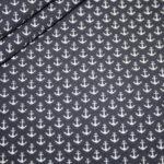 Jersey Stoff Mini Anker grau