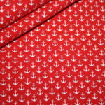Jersey Stoff Mini Anker rot