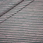Jersey Stoff Muster rosa grau Streifen