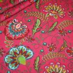 Stenzo Jersey Stoff Flowers Blumen pink