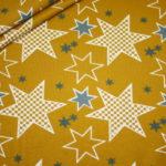 Stenzo Jersey Stoff Crazy Stars Sterne senf gelb