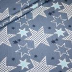 Stenzo Jersey Stoff Crazy Stars Sterne blau