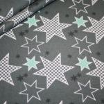 Stenzo Jersey Stoff Crazy Stars Sterne olive grün