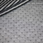 Hilco Stepp Jersey Stoff schwarz grau