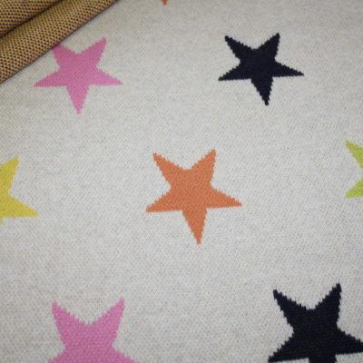 renee-d.de Swafing Jacquard Strick Jersey Stoff creme Sterne
