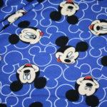 Original Walt Disney Jersey Stoff Mickey Maus blau