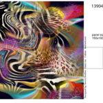 Stenzo Jersey Stoff Digitaldruck Panel Buntes Muster mit Zebra