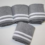 Cuff Bündchen grau weiß 1,10m