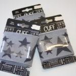 Cuff Bündchen grau Sterne 1,10m
