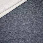 Sweatshirt Stoff uni mit glitzer dunkelblau blau