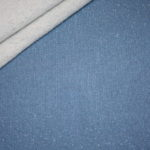 Sweatshirt Stoff uni mit glitzer blau