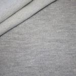 Sweatshirt Stoff uni mit glitzer hell grau