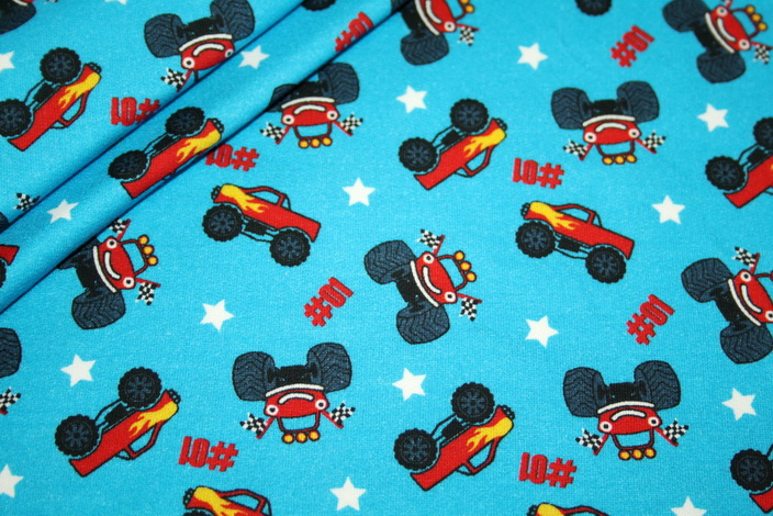 renee-d.de Onlineshop: Hilco Jersey Stoff Monstertruck