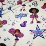 Hilco Jersey Stoff Cheerleader Girls creme bunt