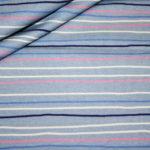 Hilco Jersey Stoff Cheerleader Streifen blau pink