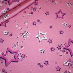 Hilco dünner Sweatshirt Stoff Cheerleader Sterne pink