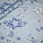 Hilco dünner Sweatshirt Stoff Cheerleader Sterne blau