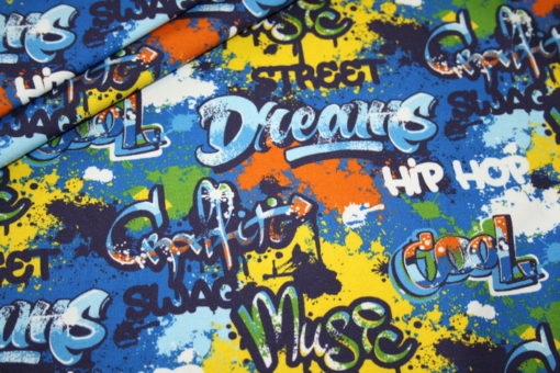 renee-d.de Onlineshop: Hilco Sweatshirt Stoff Graffiti