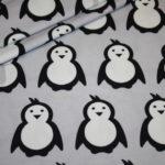 Hilco dünner Sweatshirt Stoff grau Pinguine